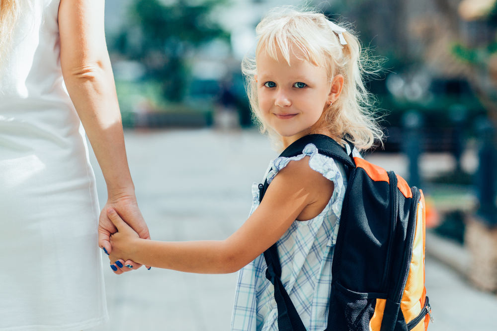 'childhood transitions' child going to school
